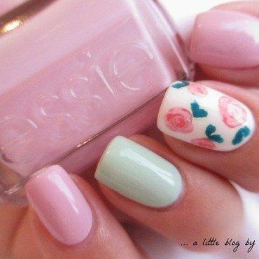 pastel rose ✿ nail art by Ayaka