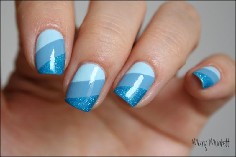 Camaïeu de bleu nail art by Mary Monkett