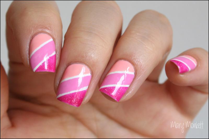 Camaïeu de rose nail art by Mary Monkett