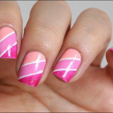 Camaïeu de rose nail art by Mary Monkett
