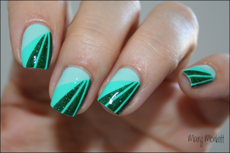 Camaïeu de vert nail art by Mary Monkett