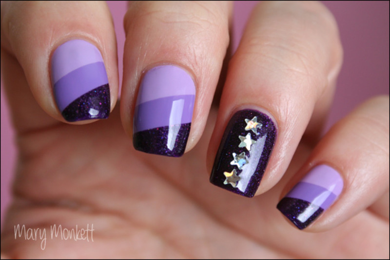 Camaïeu de violet nail art by Mary Monkett