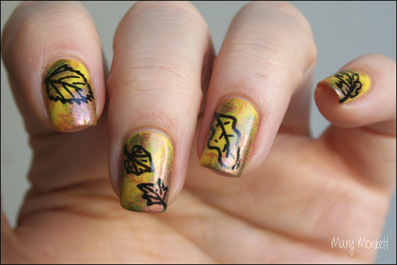 Feuilles d'automne nail art by Mary Monkett