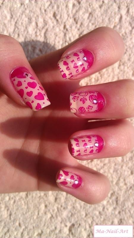 Life in pink nail art by Maeva Lukec