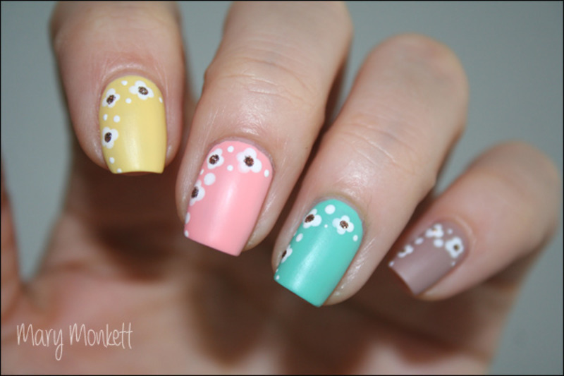 Fraîcheur de saison nail art by Mary Monkett