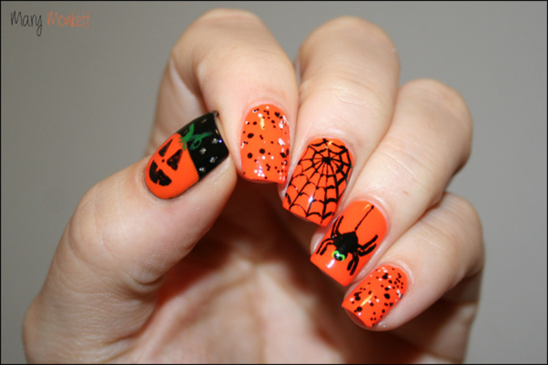 Happy Halloween nail art by Mary Monkett