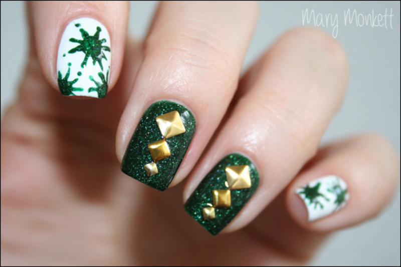 Kryptonite nail art by Mary Monkett