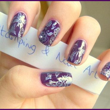 Butterfly constest nail art by Maeva Lukec