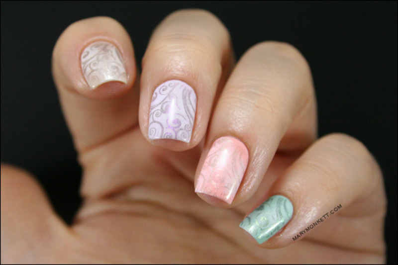 Mavala stamping nail art by Mary Monkett
