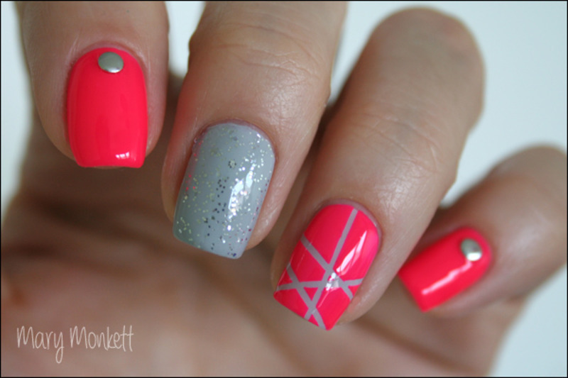 Neon Color Club nail art by Mary Monkett