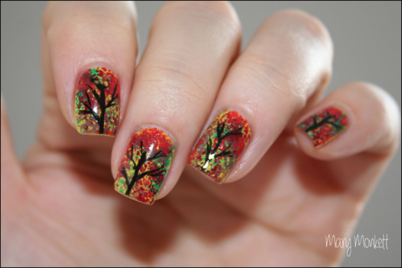 Autumn nail art by Mary Monkett