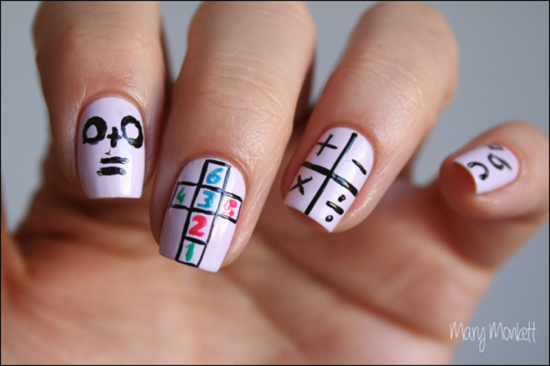 Back to school nail art by Mary Monkett - Nailpolis: Museum of Nail Art