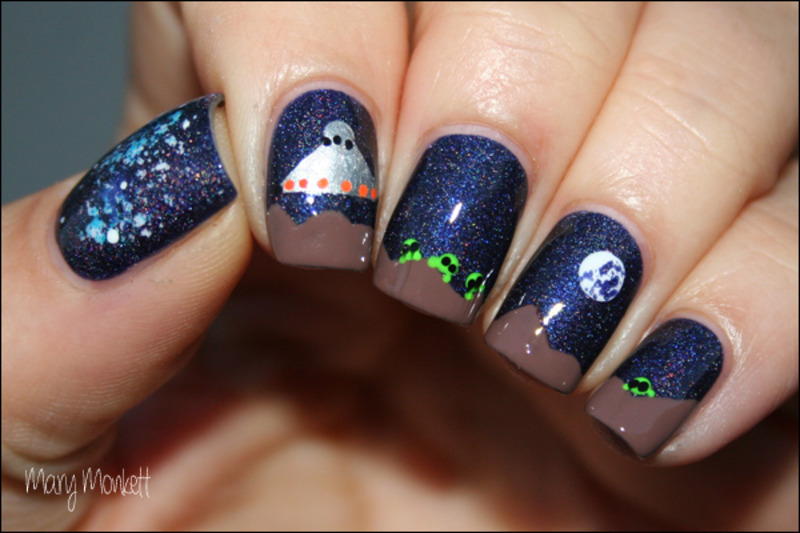 E.T nail art by Mary Monkett