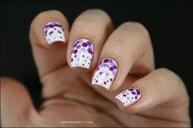 Purple rain nail art by Mary Monkett