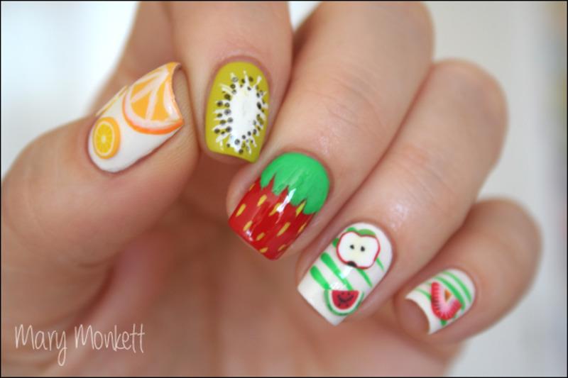 Food nails nail art by Mary Monkett