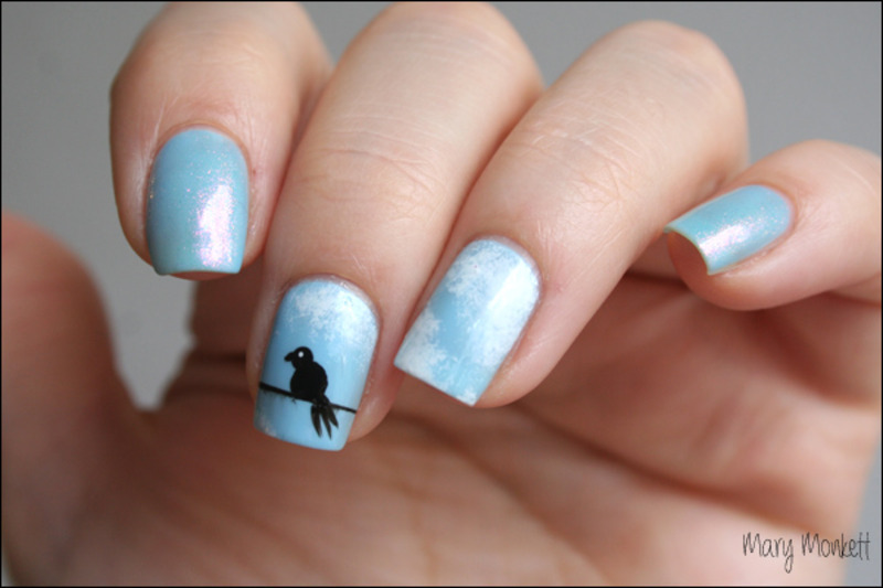In the air nail art by Mary Monkett
