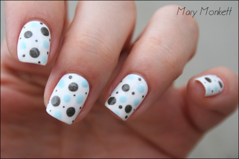 Pois nail art by Mary Monkett
