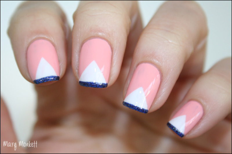 Mont Blanc nail art by Mary Monkett
