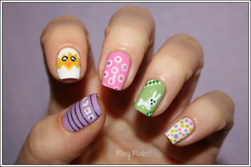 Pâques nail art by Mary Monkett