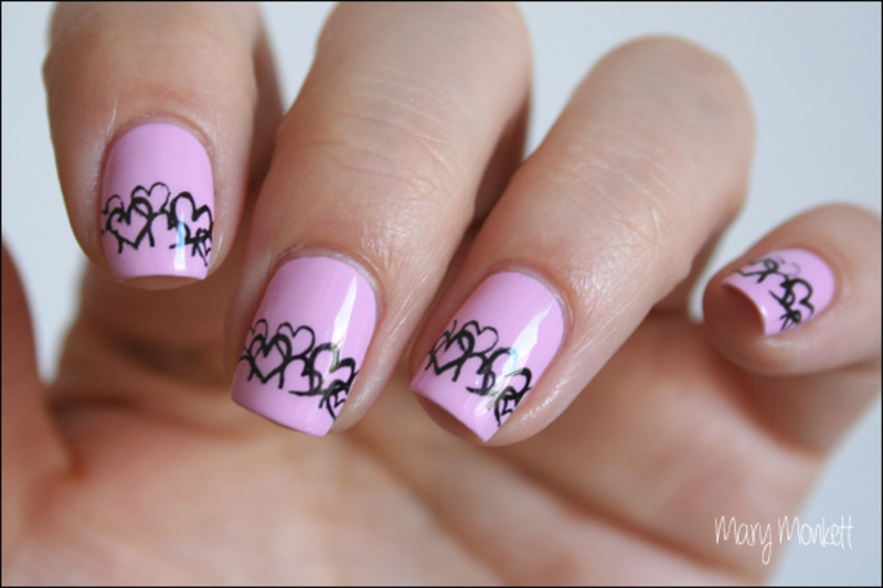 Pastel pink nail art by Mary Monkett