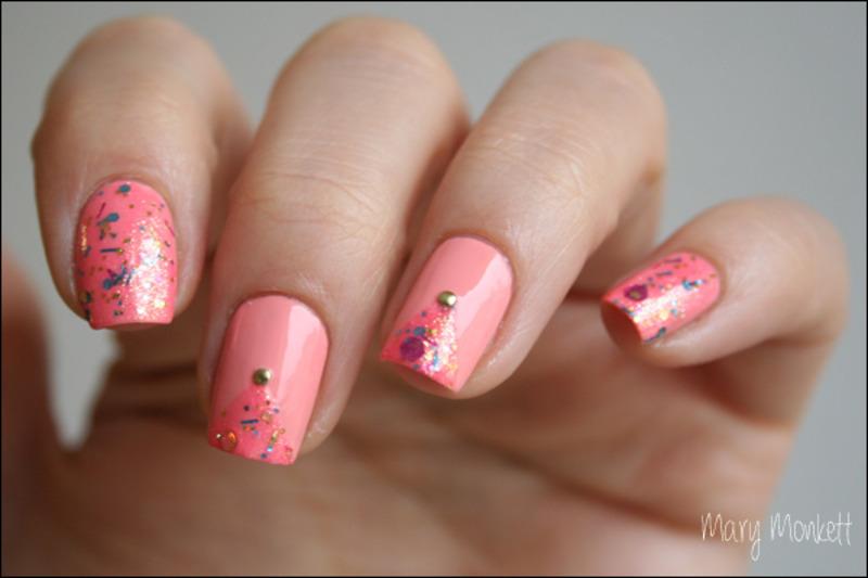 Pinkie promise nail art by Mary Monkett