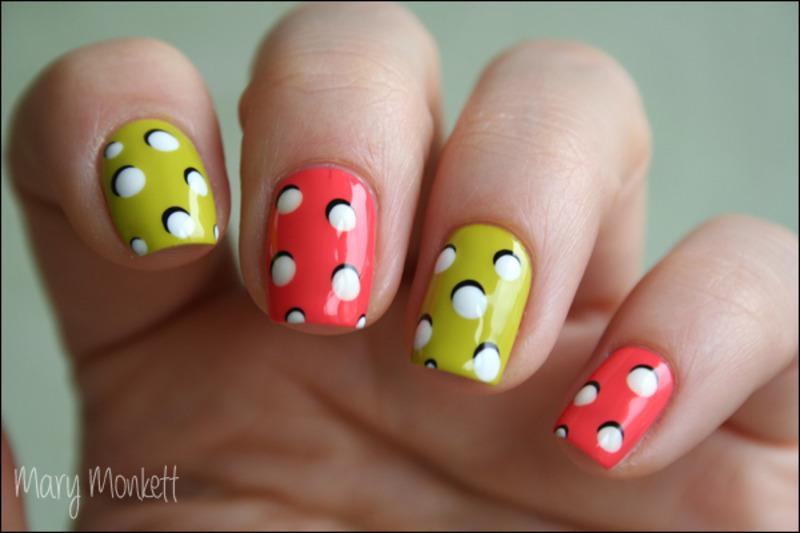 Pop 'n dots nail art by Mary Monkett