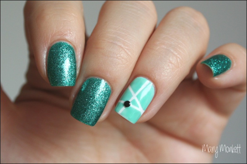 Sea Jewel nail art by Mary Monkett