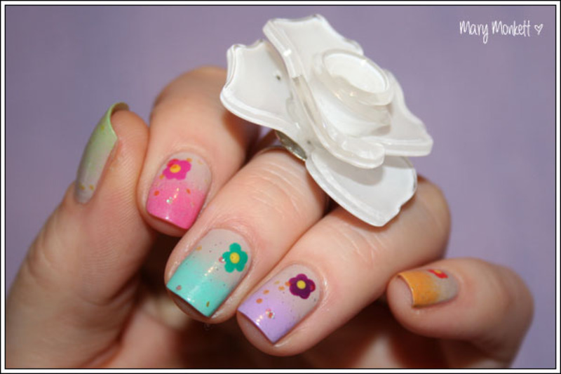 Printemps nail art by Mary Monkett