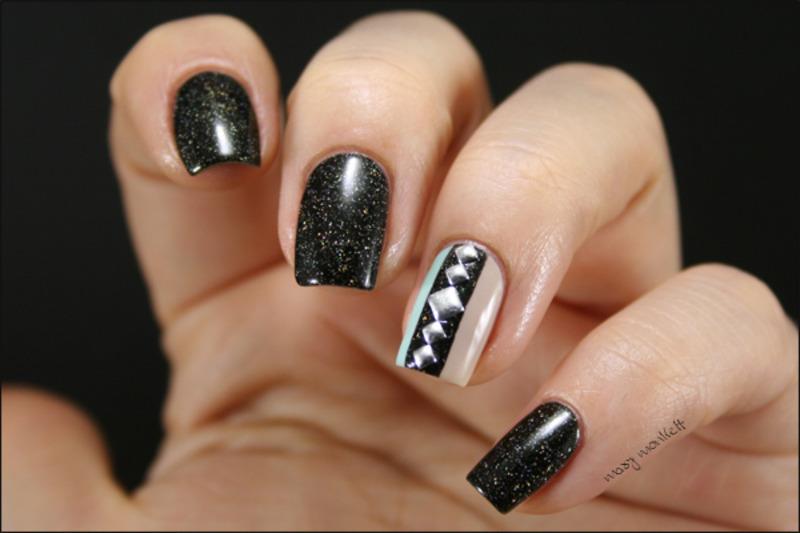 Storm nail art by Mary Monkett