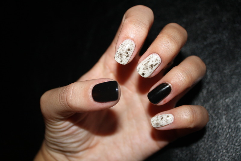 Splatter Paint Mani nail art by Laurelle Alexandra
