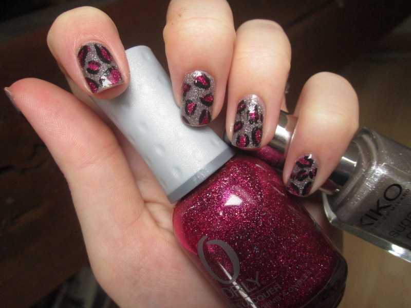Pink Textured Leopard nail art by Gang Of Polish