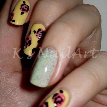 "Pastel Roses nail art by Kairi E ""K's NailArt"""