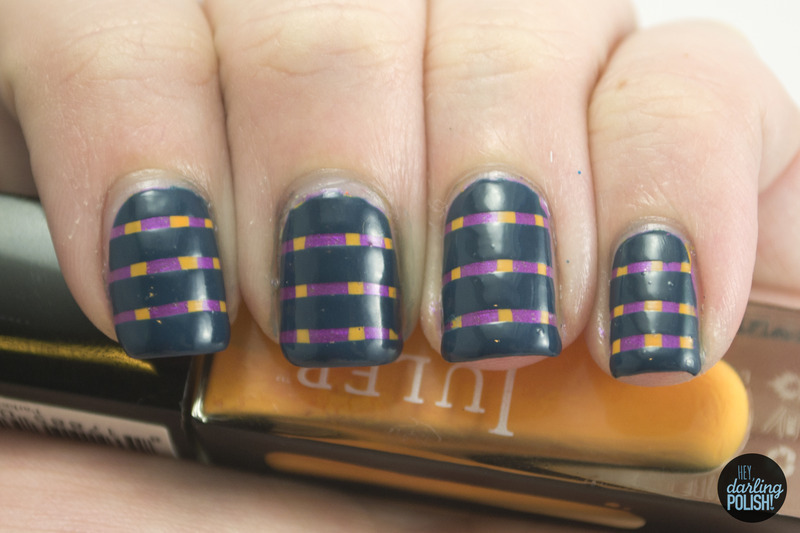 Stripes On Stripes nail art by Marisa  Cavanaugh