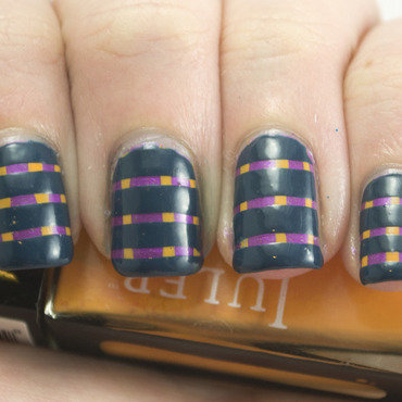 Golden oldie thursdays stripes nail art 3 thumb370f