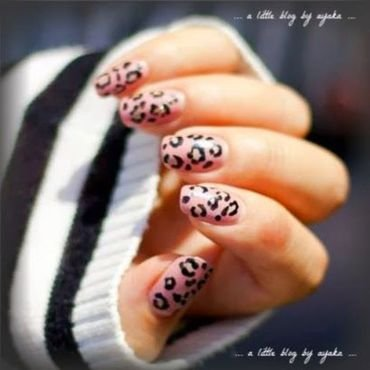 pink leopard nails 🐈 nail art by Ayaka