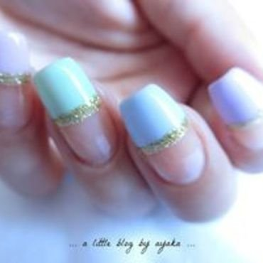 pastel french nails ❀ nail art by Ayaka