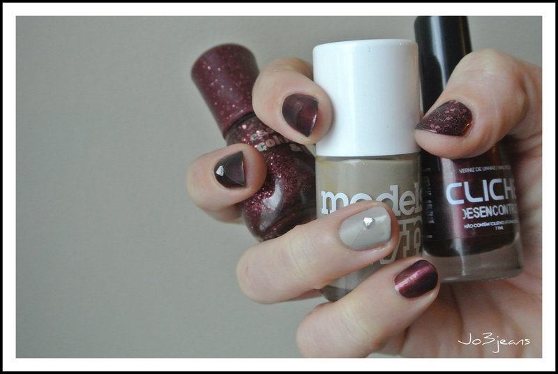 accent nails luxe : mat et transparence nail art by Jo3jeans