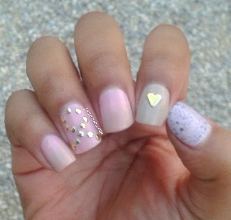 Pink October nail art by Pinezoe