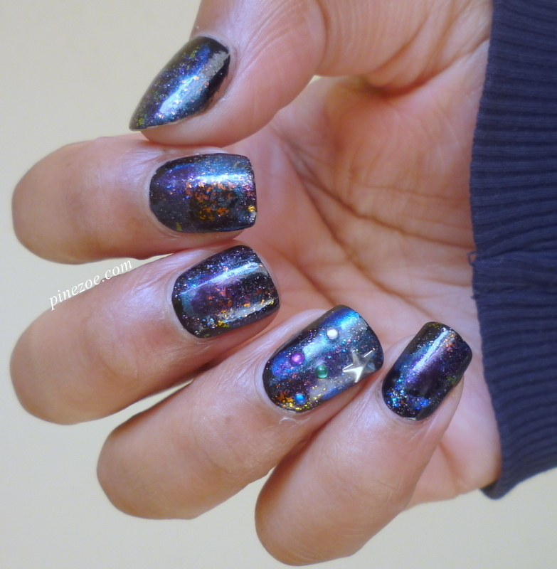 Galaxy Nail!  nail art by Pinezoe