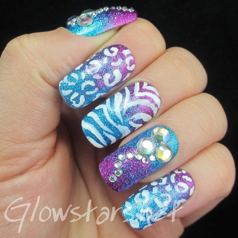 Wouldn't it be good if we could wish ourselves away nail art by Vic 'Glowstars' Pires