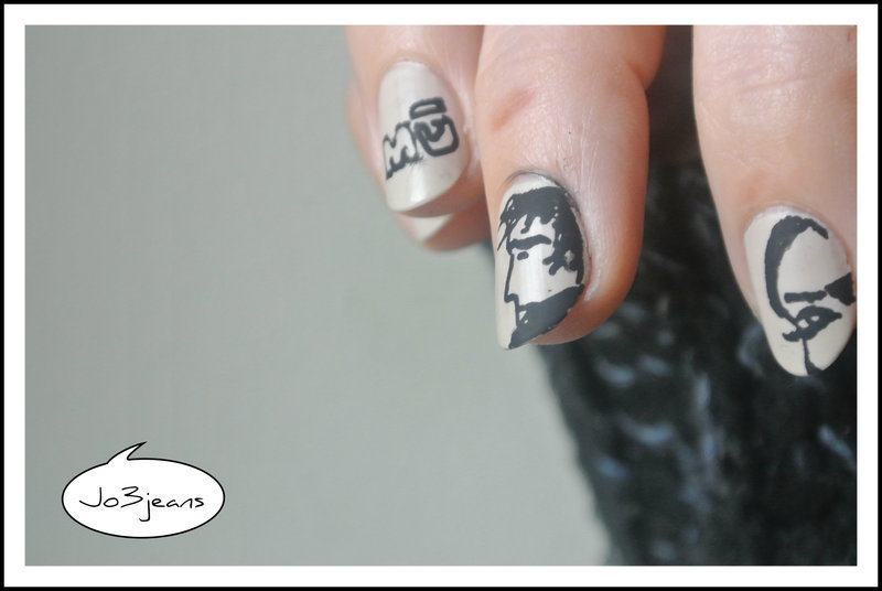 BD nails Corto Maltese nail art by Jo3jeans