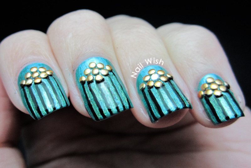 Beetle Shells nail art by NailWish