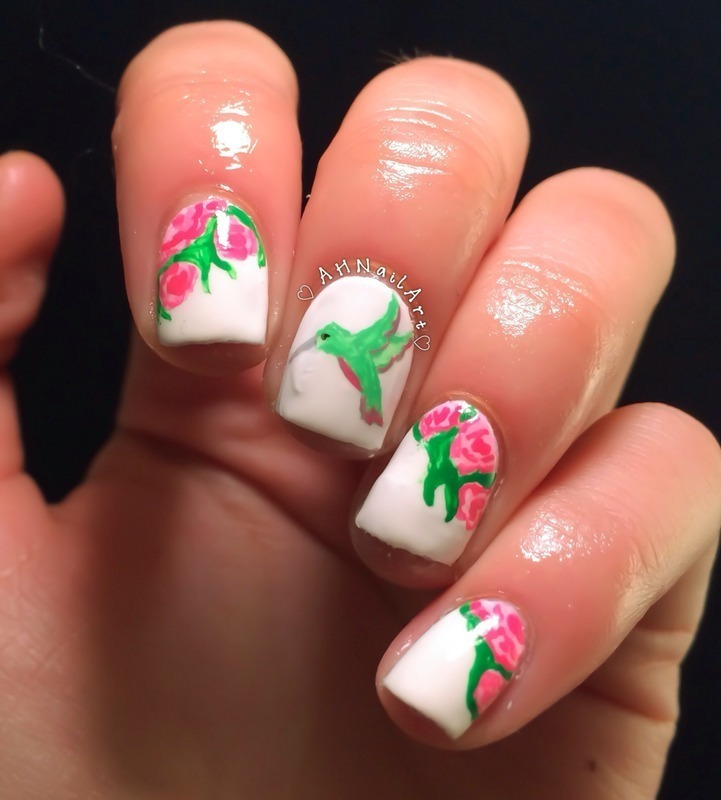 Hummingbird Nails Nail Art By Ah Nail Art Nailpolis Museum Of
