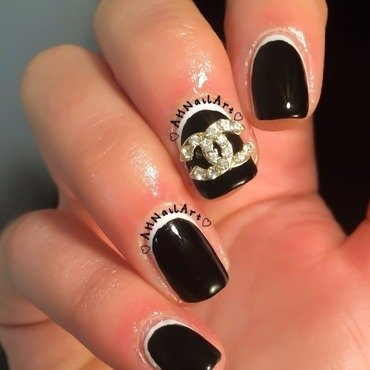 Chanel Nails nail art by AH Nail Art