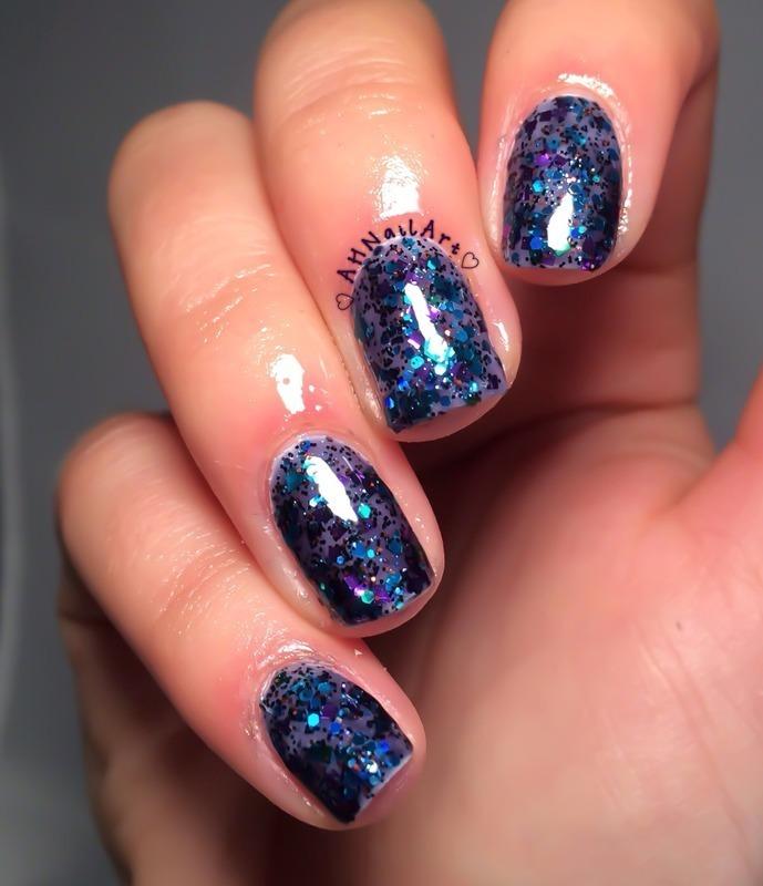 Glitter Bomb! nail art by AH Nail Art