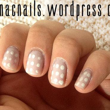 White on White nail art by Nicole Wood