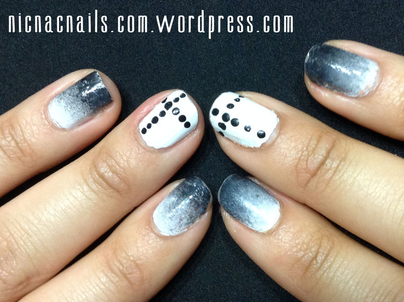 Black & White nail art by Nicole Wood
