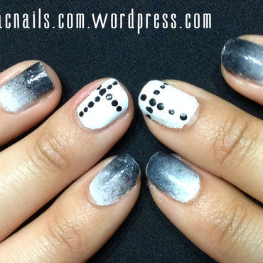 Black & White nail art by Nicole Wood