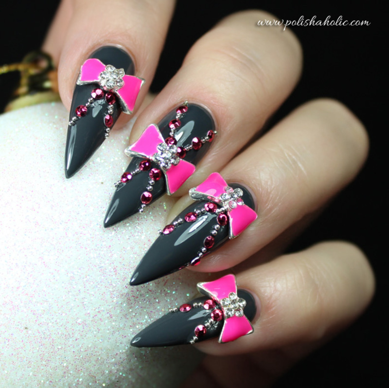 Not your average Holiday nails nail art by Ria  G