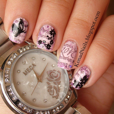 Love letters nail art by KonadAddict